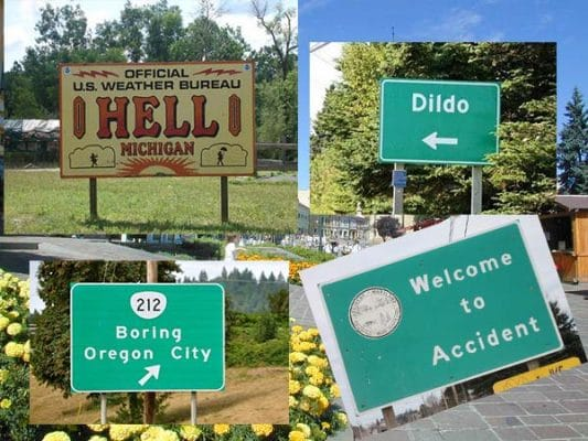 Ridiculous City Names in United States